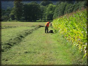 Valmistautuminen passiin, oikealla maissipeltoa.