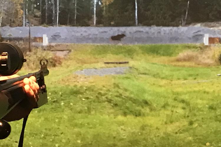 Simulaattorissa voi treenata myös ratahirveä